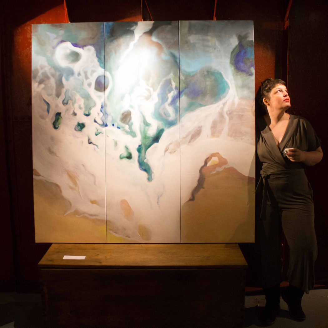 Martina Piasevoli Kunst Malerei aus Basel Kunstausstellung Schachtofenbatterie Freundetreffen Festival 2019